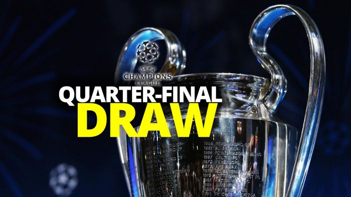 See Complete Uefa Champions League Quarter Final Draw Newscastars