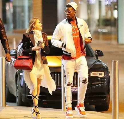 Paul Pogba with his girlfriend Maria Salaues