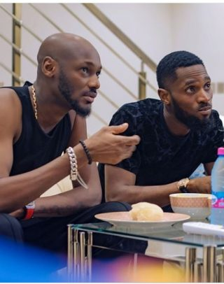 What is your best Caption for this photo of 2face and Dbanj