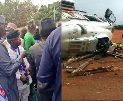 Yemi Osinbajo helicopter crash
