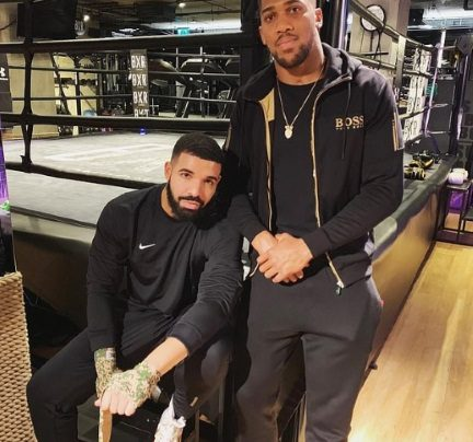 Drake hangs out with Anthony Joshua in the boxing ring ahead of his 23rd professional fight