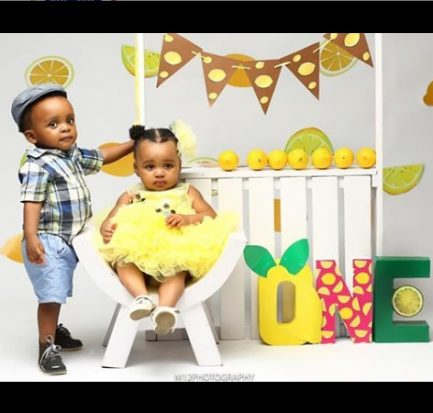 Akpororo's twins Celebrates first birthday