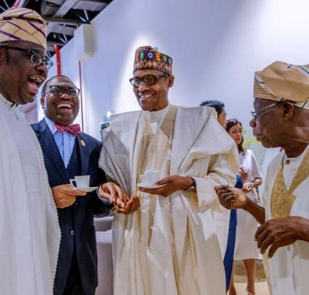 Buhari and Obasanjo in Senegal