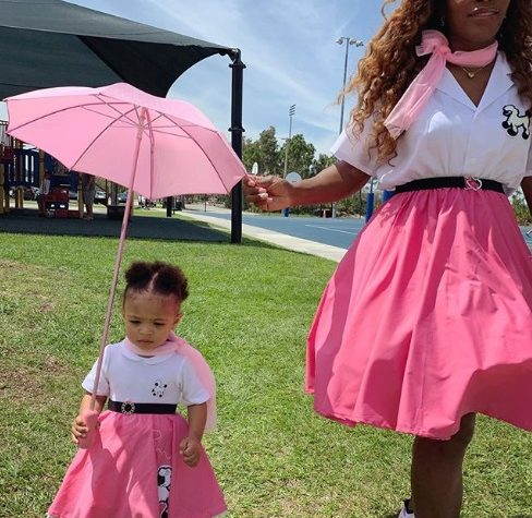 Serena Williams and her daughter