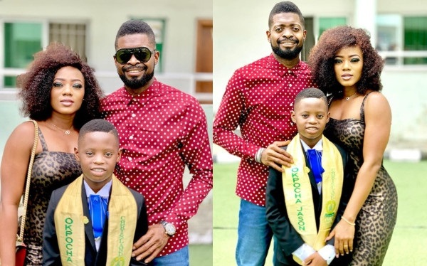 Basketmouth cuts short his comedy tour to turn up for his son's graduation (photos)