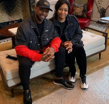 New photo of Biodun Fatoyinbo and his wife twinning in Denim